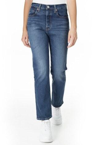 Levi's - Levis Pamuklu Yüksek Bel 501 Jeans Bayan Kot Pantolon 36200-0094 KOYU MAVİ