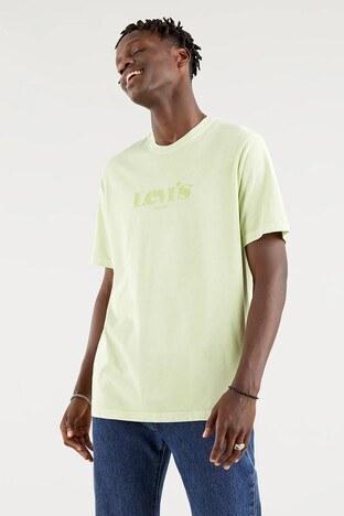 Levi's - Levis Rahat Kesim Baskılı Bisiklet Yaka % 100 Pamuk Erkek T Shirt 161430105 FISTIK YEŞİL