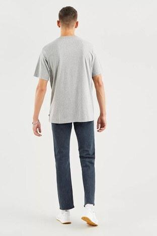 Levis Rahat Kesim Baskılı Bisiklet Yaka % 100 Pamuk Erkek T Shirt 161430111 GRİ