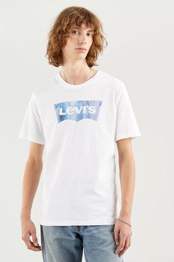 Levis Regular Fit Baskılı Bisiklet Yaka % 100 Pamuk Erkek T Shirt 224890343 BEYAZ