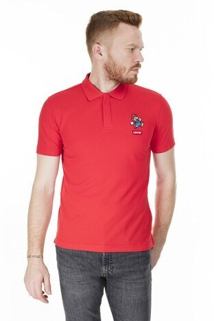 Levi's - Levis Regular Fit T Shirt Erkek Polo 85631-0009 KIRMIZI