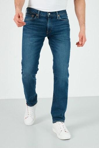 Levis Slim Fit Pamuklu 511 Jeans Erkek Kot Pantolon 04511-5086 KOYU MAVİ