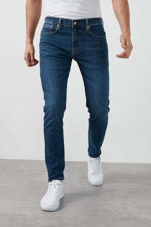 Levis Slim Fit Pamuklu 512 Jeans Erkek Kot Pantolon 28833-0784 KOYU MAVİ