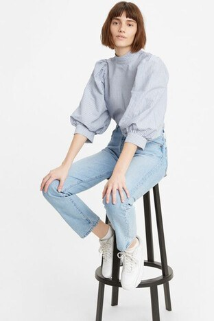 Levi's - Levis Yüksek Bel % 100 Pamuk 501 Jeans Bayan Kot Pantolon 36200-0124 AÇIK MAVİ