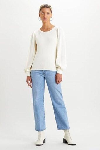 Levis Yüksek Bel Pamuklu Ribcage Jeans Bayan Kot Pantolon 72693-0052 AÇIK MAVİ