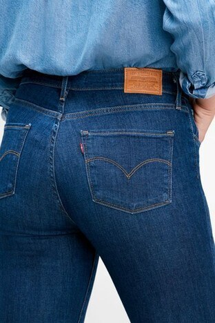 Levis Yüksek Bel Skinny Dar Paça Pamuklu 721 Jeans Bayan Kot Pantolon 188820330 KOYU MAVİ