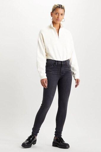 Levis Yüksek Bel Süper Skinny Dar Paça 720 Jeans Bayan Kot Pantolon 52797-0185 KOYU GRİ