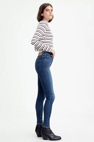 Levis Yüksek Bel Süper Skinny Fit 720 Jeans Bayan Kot Pantolon 52797-0123 KOYU MAVİ