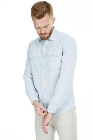 Lufian Erkek Gömlek 111010130 AÇIK MAVİ