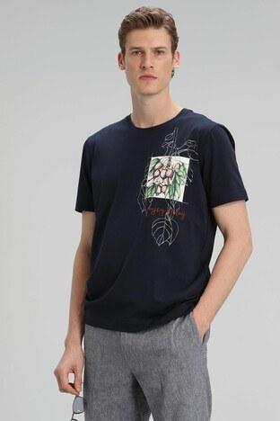 Lufian - Lufian Erkek T Shirt 111020103 LACİVERT