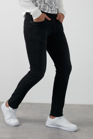 Lufian Jovi Pamuklu Slim Fit Dar Paça Jeans Erkek Kot Pantolon 112200107 SİYAH