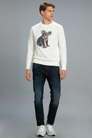 Lufian Kobe Slim Fit Pamuklu Jeans Erkek Kot Pantolon 112200100 MAVİ
