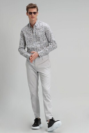 Lufian Mate Pamuklu Slim Fit Erkek Pantolon 111190094 GRİ