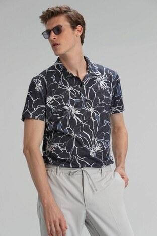 Lufian - Lufian Pamuklu Düğmeli T Shirt Erkek Polo 111040073 LACİVERT