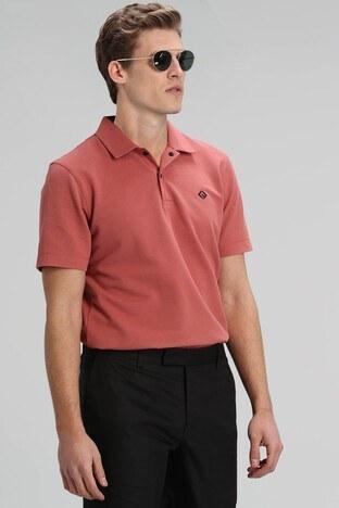 Lufian - Lufian Pamuklu T Shirt Erkek Polo 111040086 TURUNCU