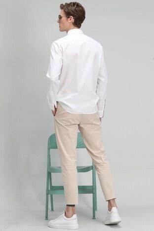 Lufian Sernat Pamuklu Slim Fit Erkek Pantolon 111190111 BEJ