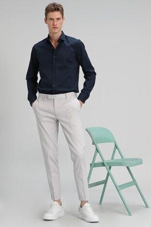 Lufian - Lufian Slim Fit Pamuklu Chino Erkek Pantolon 111190097 GRİ