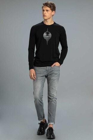 Lufian - Lufian Slim Fit Pamuklu Costa Jeans Erkek Kot Pantolon 112200112 KOYU GRİ