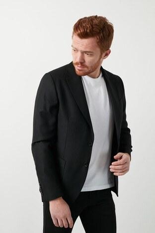 Lufian Slim Fit Spor Blazer Taco Erkek Ceket 112140094 SİYAH