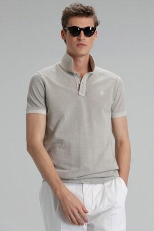 Lufian - Lufian Vernon % 100 Pamuklu T Shirt Erkek Polo 111040056 EKRU