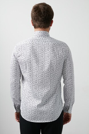 Lufian Viktor % 100 Pamuk Slim Fit Erkek Gömlek 112010285 GRİ