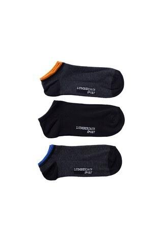 Lumberjack - Lumberjack 3 Pack Erkek Çorap REST SİYAH-ANTRASİT
