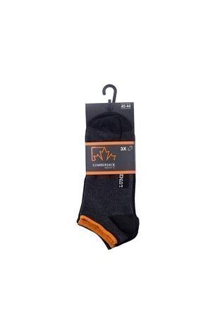 Lumberjack 3 Pack Erkek Çorap REST SİYAH-ANTRASİT