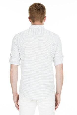 Manche Fletolu Flamlı Erkek Gömlek ME19S11-1505 HAKİ