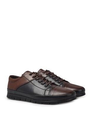 Marcomen Bağcıklı Deri Erkek Ayakkabı 1524517 LACİVERT-KAHVE