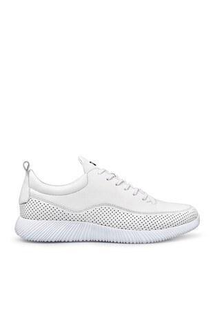 Marcomen - Marcomen Deri Erkek Ayakkabı 15202506 BEYAZ