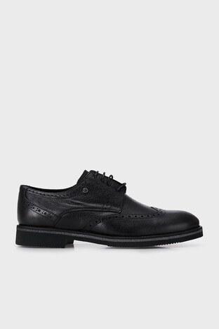Marcomen - Marcomen Hakiki Deri Klasik Erkek Ayakkabı 15212360 SİYAH