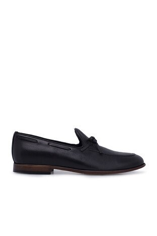 Marcomen - Marcomen Hakiki Deri Erkek Ayakkabı 15206041 SİYAH