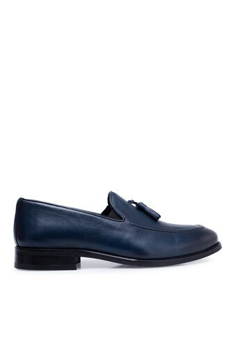 Marcomen Hakiki Deri Erkek Ayakkabı 15210220 LACİVERT