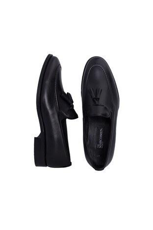 Marcomen Hakiki Deri Erkek Ayakkabı 15210220 SİYAH