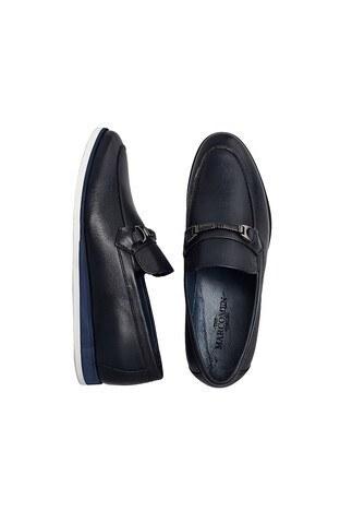 Marcomen Hakiki Deri Erkek Ayakkabı 15213040 LACİVERT