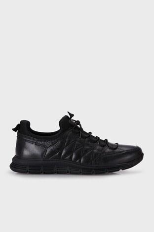 Marcomen - Marcomen Hakiki Deri Erkek Ayakkabı 15214075 SİYAH