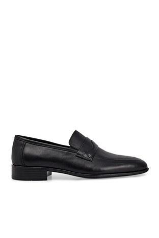 Marcomen - Marcomen Hakiki Deri Klasik Erkek Ayakkabı 1535077 SİYAH