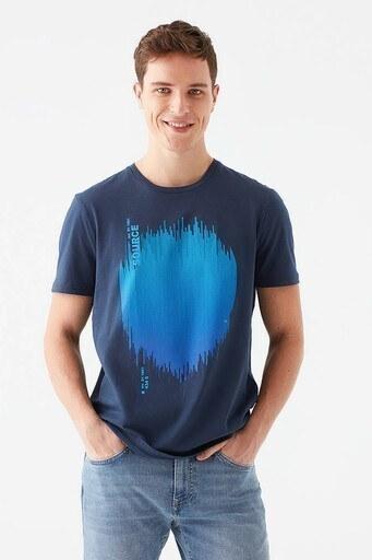 Mavi % 100 Pamuk Baskılı Bisiklet Yaka Erkek T Shirt 066583-33207 LACİVERT