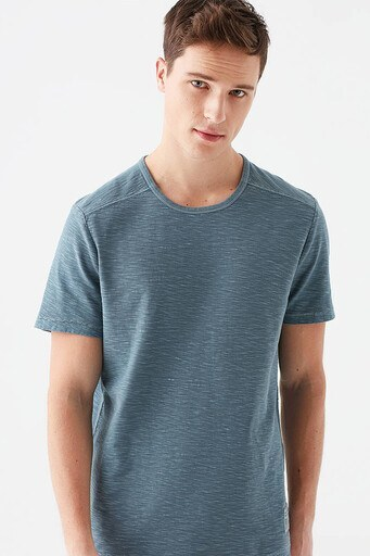 Mavi % 100 Pamuk Bisiklet Yaka Erkek T Shirt 066610-33510 PETROL