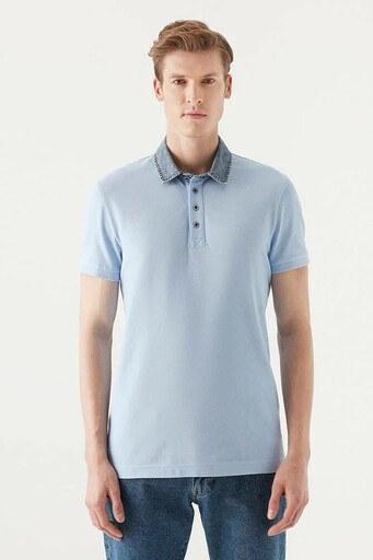 Mavi T Shirt Erkek Polo 062685-33516 MAVİ
