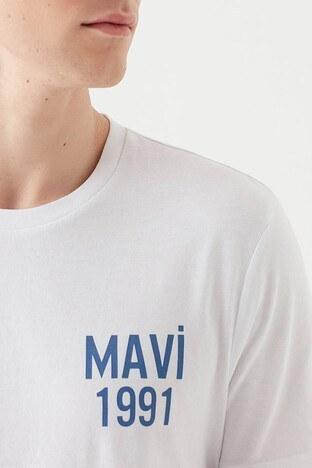 Mavi Erkek T Shirt 066847-620 BEYAZ