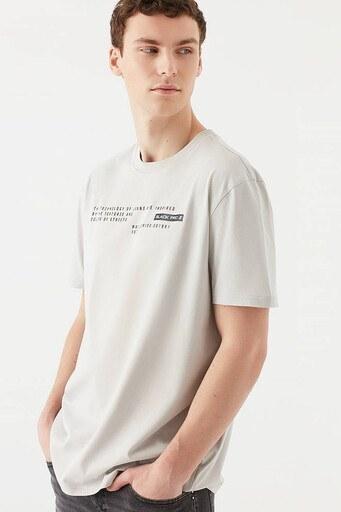 Mavi % 100 Pamuk Rahat Kesim Bisiklet Yaka Erkek T Shirt 067029-35240 BEJ