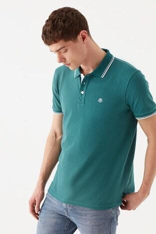 Mavi % 100 Pamuk Slim Fit Düğmeli T Shirt Erkek Polo 064164-33505 YEŞİL