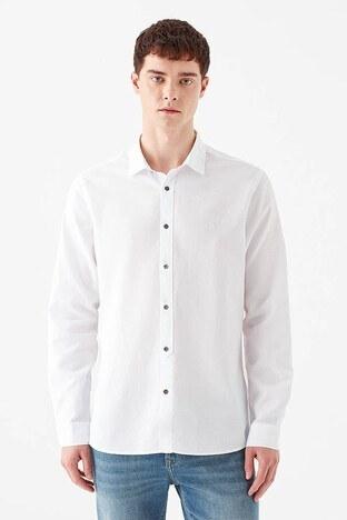 Mavi % 100 Pamuk Slim Fit Erkek Gömlek 021304-620 BEYAZ