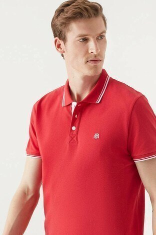 Mavi % 100 Pamuk Slim Fit Polo Erkek T Shirt 064164-33203 KIRMIZI