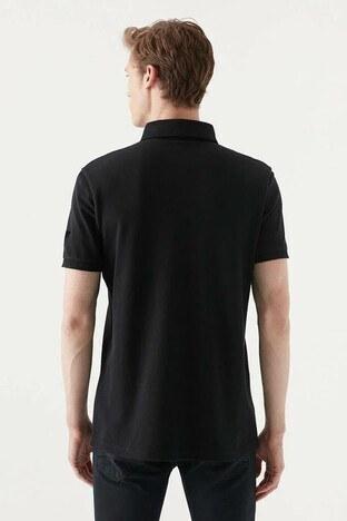 Mavi % 100 Pamuk T Shirt Erkek Polo 066656-900 SİYAH