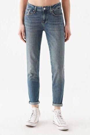 Mavi - Mavi Boyfriend Düz Paça Pamuklu Ada Jeans Bayan Kot Pantolon 1020533423 AÇIK MAVİ