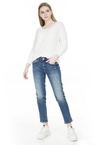 Mavi - Mavi Boyfriend Dar Paça Ada Jeans Bayan Kot Pantolon 1020530403 MAVİ