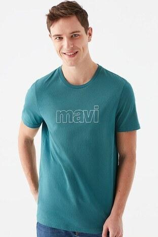 Mavi Baskılı Bisiklet Yaka % 100 Pamuk Erkek T Shirt 065781-33505 YEŞİL