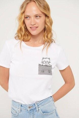 Mavi - Mavi Bayan T Shirt 1600638-620 BEYAZ